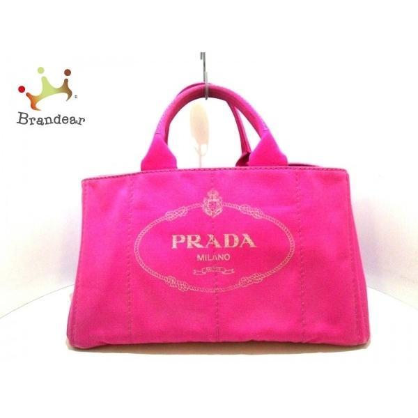 プラダ PRADA トートバッグ CANAPA BN1872 ピンク キャンバス スペシャル特価 20191110