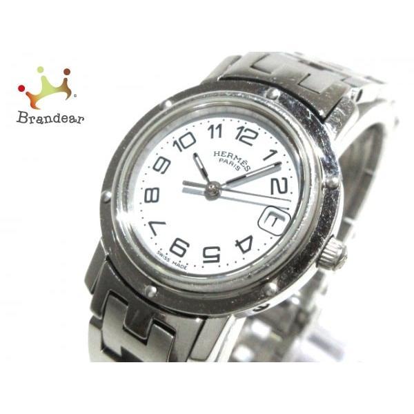 輝い エルメス HERMES 腕時計 クリッパー CL4.210 レディース 白 値下げ 20191005, 靴のパラダイス 34fee337