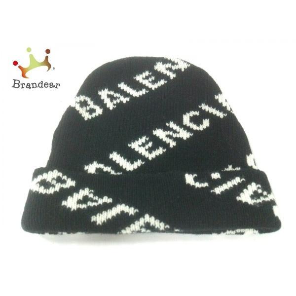 非常に高い品質 バレンシアガ BALENCIAGA ニット帽 美品 黒×アイボリー ウール 値下げ 20200205, 日置町 705305ce