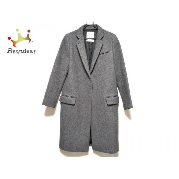 生まれのブランドで リジェール Lisiere コート サイズ38 M レディース 美品 ダークグレー 冬物 新着 20200123, テシカガチョウ 81b8c04d