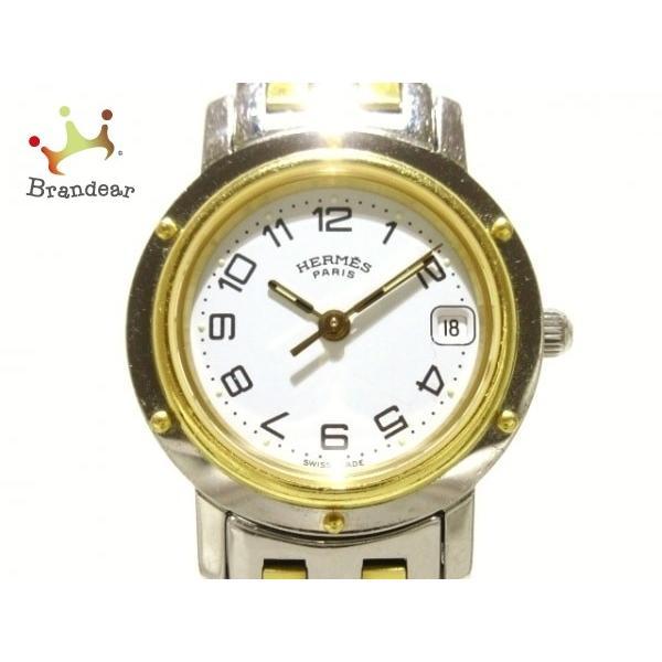 新品即決 エルメス HERMES 新着 腕時計 腕時計 HERMES クリッパー CL4.220 レディース 白 新着 20200220, 沼南町:74f3db57 --- airmodconsu.dominiotemporario.com