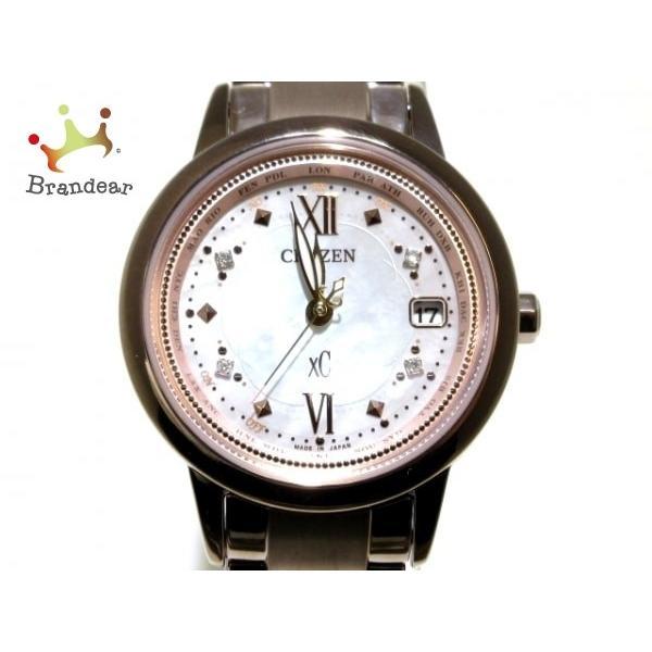 【限定品】 シチズン 腕時計 美品 XC(クロスシー) EC1147-52W レディース シェル文字盤/電波/世界3100本限定 新着 20200218, ミマタチョウ 080a670d