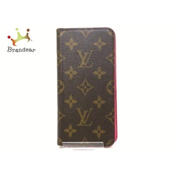 ルイヴィトン 携帯電話ケース モノグラム 美品 IPhone XR·フォリオ M67483 ローズ  値下げ 20201229