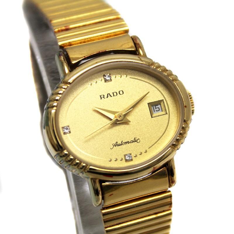 高品質の激安 送料無料 ラドー アンティーク オートマチック 腕時計 ゴールド シルバー 561 7969 2 ステンレス, 厨房卸問屋 名調 b3e279fb