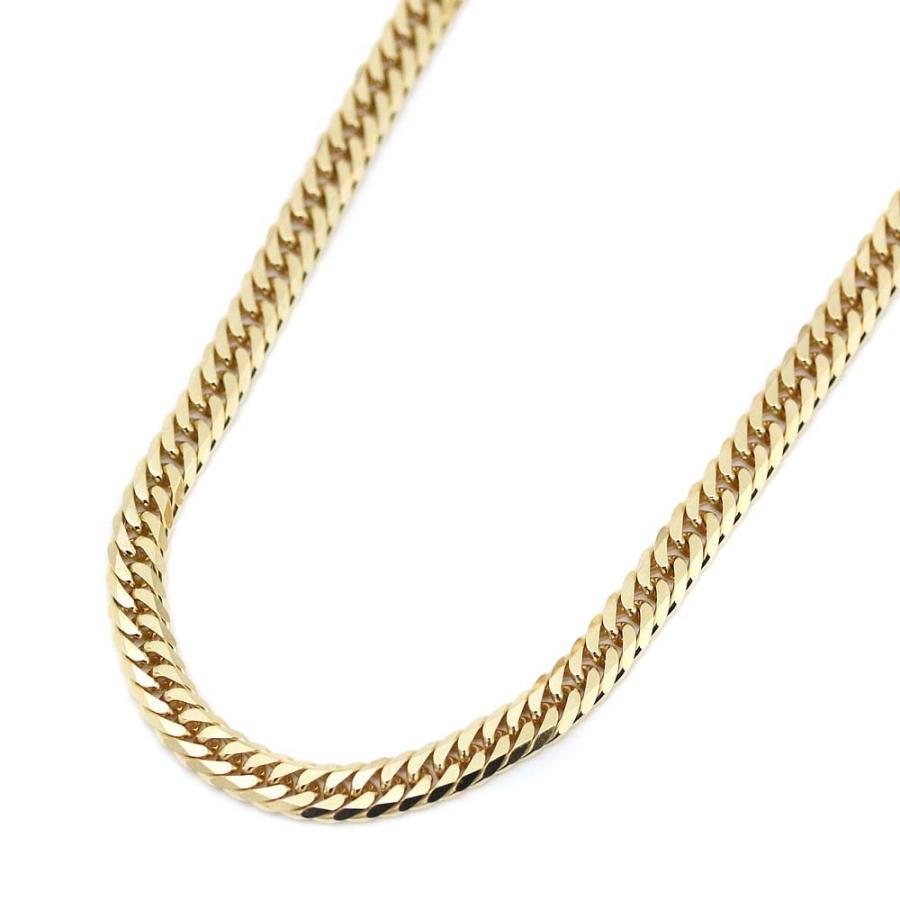 【海外 正規品】 ノーブランド 喜平 6面カット ダブル ネックレス メンズ K18ゴールド ジュエリー イエローゴールド  送料無料, アイデアがいっぱい d062b0d2