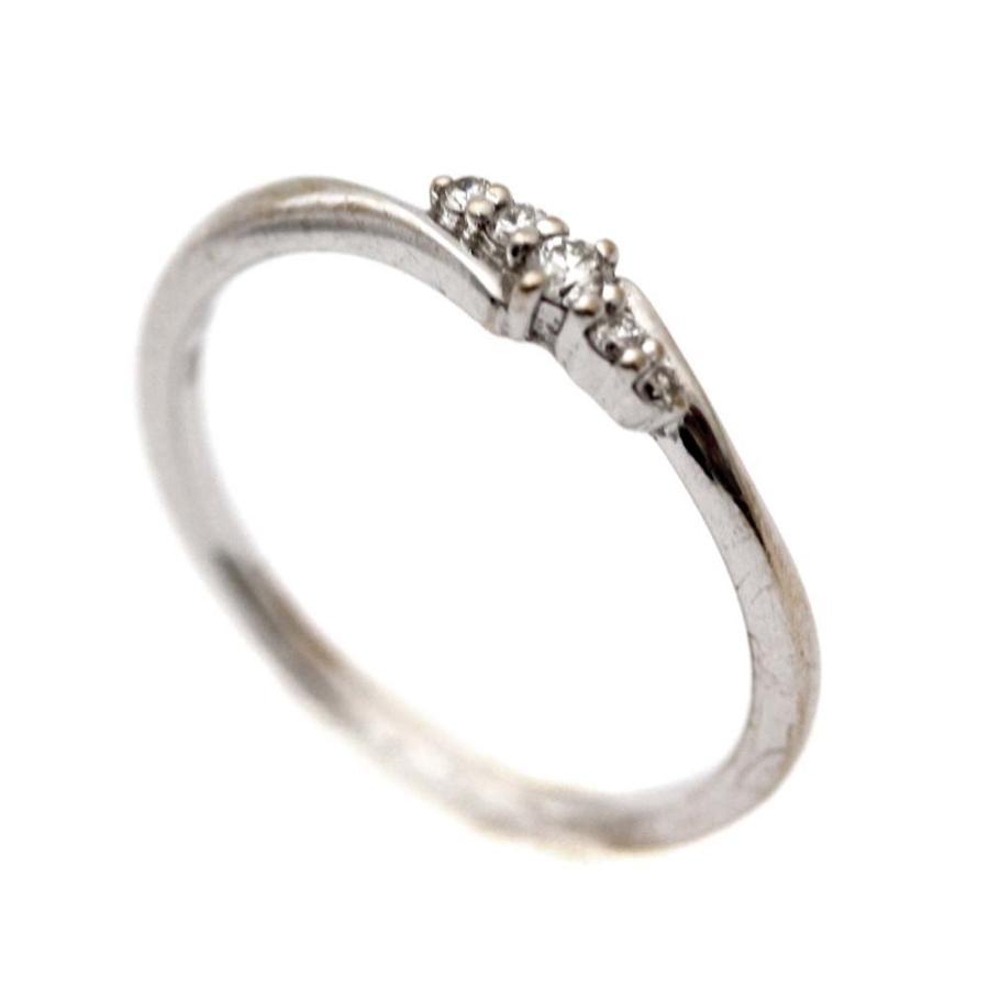 最適な価格 ヨンドシー デザイン リング・指輪 レディース K18ホワイトゴールド ダイヤモンド ジュエリー 11号 シルバー  送料無料, ウラウスチョウ 3e23efb9