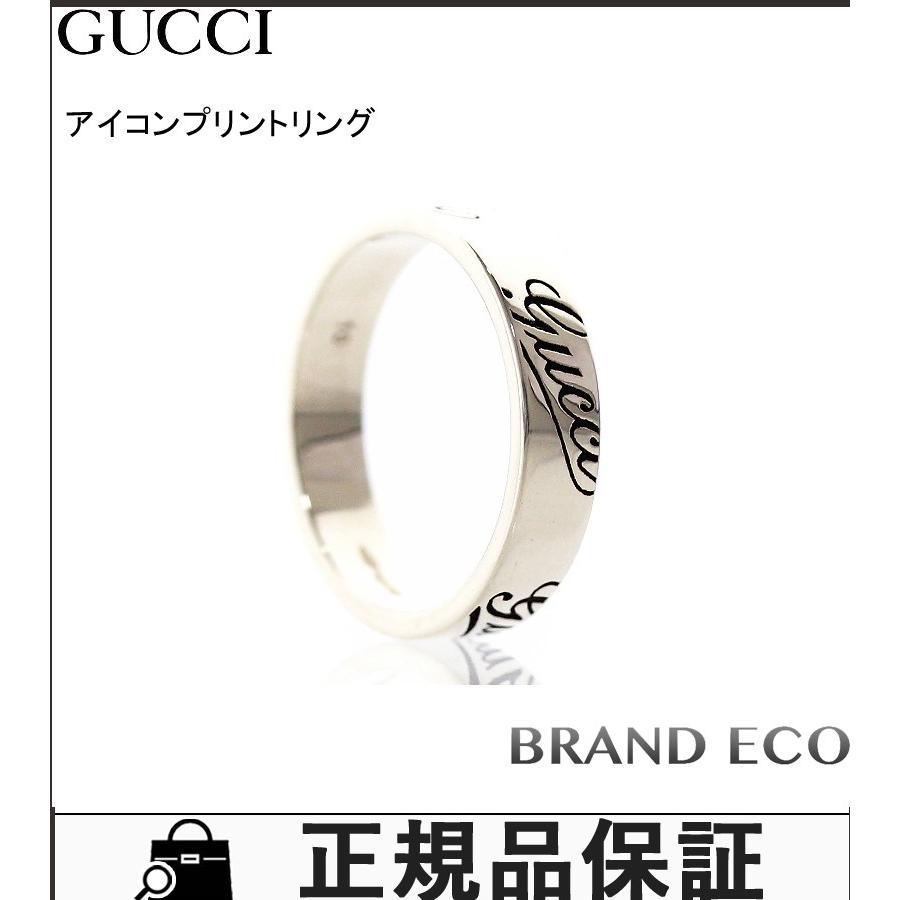 新作 グッチ 750WG K18 アイコンプリントリング ♯10 約9.5号 指輪 ジュエリー アクセサリー 新品仕上済み, iDECA 81935b66
