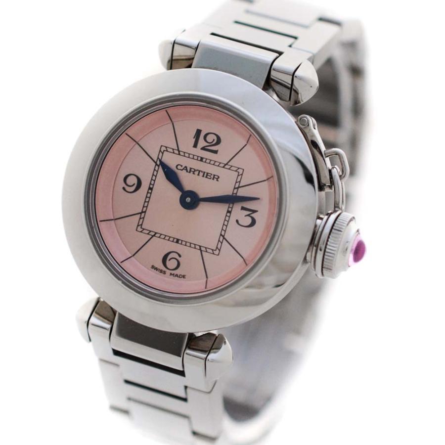 高質 カルティエ 腕時計 ミスパシャ 腕時計 レディース 送料無料 クオーツ シルバー ピンク文字盤 シルバー W3140008 送料無料, 愛筆屋:bda7f492 --- airmodconsu.dominiotemporario.com