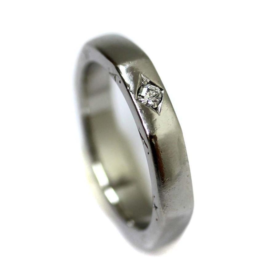 激安ブランド ポンテヴェキオ 1P リング・指輪 レディース Pt900プラチナ ダイヤモンド ジュエリー 9号 シルバー  送料無料, イイノマチ f71ade83