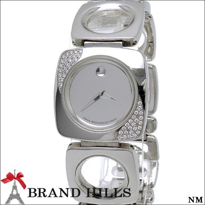 激安通販 モバード 腕時計 SS レディース クォーツ 腕時計 SS ダイヤモンドベゼル モバード 84.A1.1310S MOVADO 美品, お宝市番館:5e3b442f --- airmodconsu.dominiotemporario.com