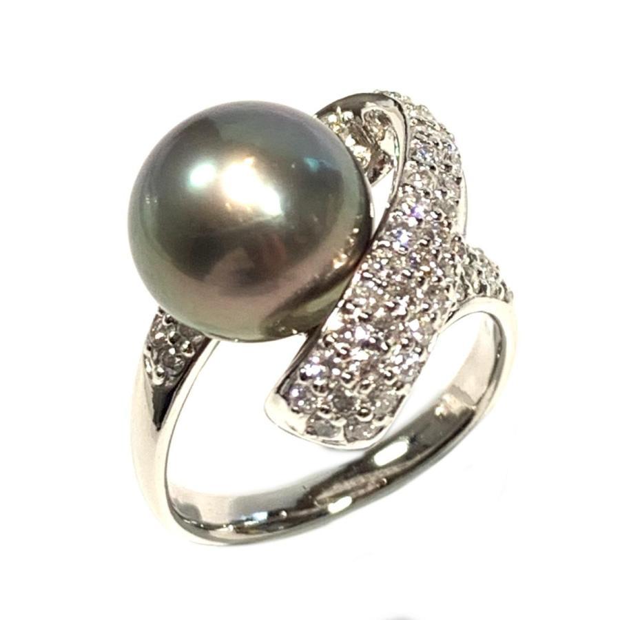 かわいい! ジュエリー パール パール(11mm) ダイヤモンド リング 指輪 指輪 ジュエリー ブラックxシルバー PT900 プラチナ x パール(11mm) x ダイヤモンド 1.00ct, ミュージックフォリビング:b73dd472 --- airmodconsu.dominiotemporario.com