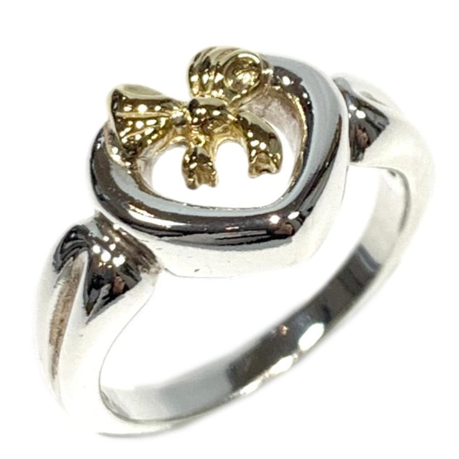 値引 ティファニー ハートリボンリング 指輪 シルバーxゴールド K18YG(750) イエローゴールド x シルバー(925) ランクA 9号, 業務用卸販売センター fu-lab f471f4a9