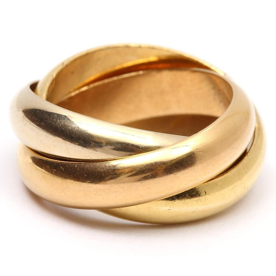 珍しい カルティエ トリニティリング リング 指輪 K18WG(750) ホワイトゴールド x K18YG イエローゴールド x K18PG ピンクゴールド, 神泉村 5dbfc10f