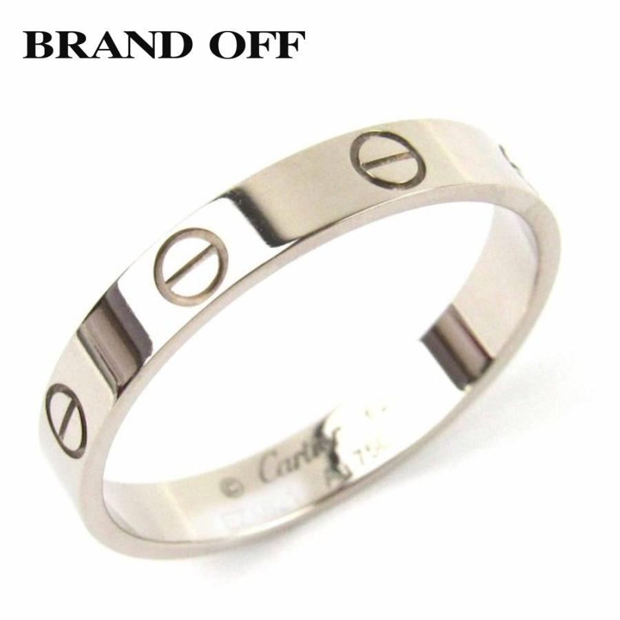 売り切れ必至! カルティエ ミニラブリング 指輪 K18WG(750) ホワイトゴールド ランクA #62/21.5号, イゼナソン d7b8c2db