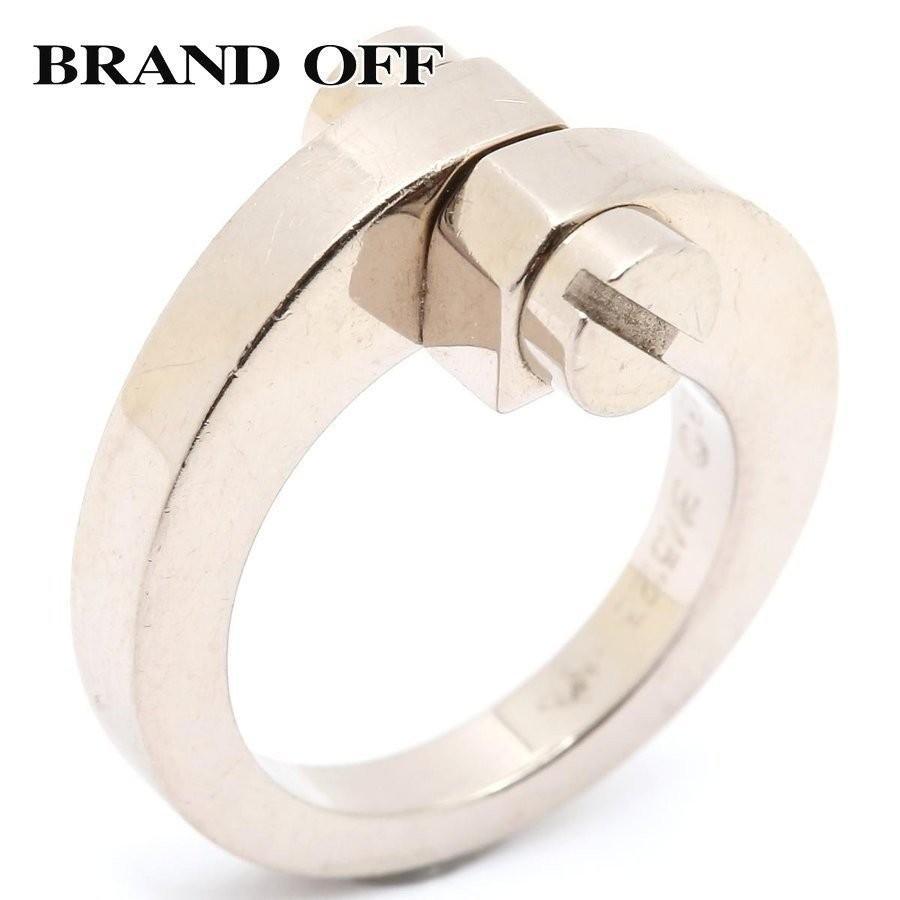 偉大な カルティエ メノットリング 指輪 K18WG(750) ホワイトゴールド ランクA #48/8号, SOHO本舗 fa8aec68