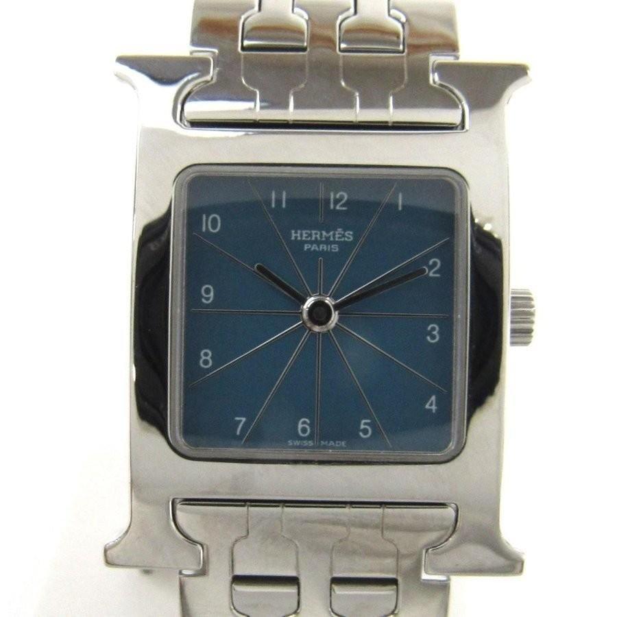 好きに エルメス Hウォッチ レディース 腕時計 シルバー ステンレススチール HH1.210, メンズショップオオシマ 7a2801d1