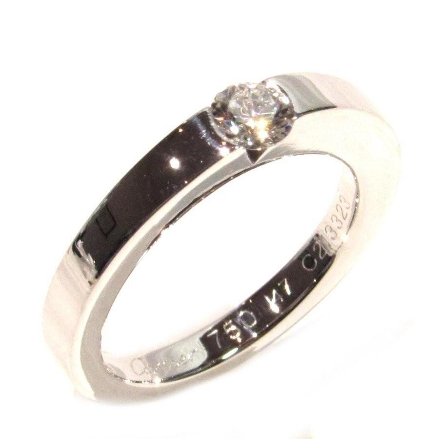 最安値級価格 カルティエ デートウィズリング ダイヤ 指輪 クリアー シルバー K18WG ホワイトゴールド ダイヤモンド0.21ct, 心斎橋焙煎所 31b87a20