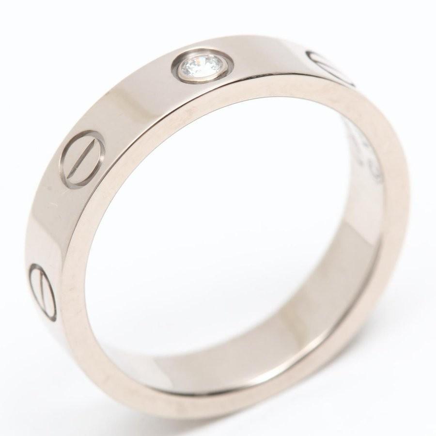 素晴らしい カルティエ ミニラブリング 1Pダイヤモンド 指輪 K18WG(750) ホワイトゴールド x ダイヤモンド ランクA #48/8号, リカーショップたかはしweb 47def479