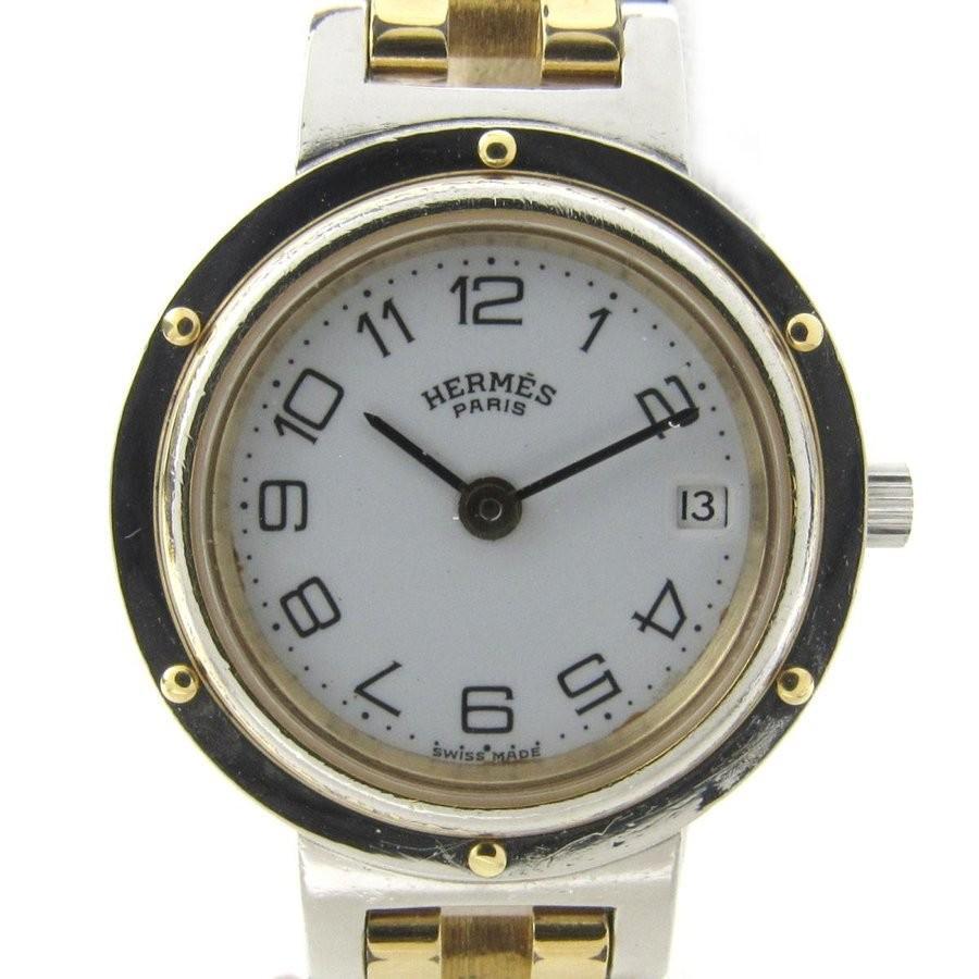 【未使用品】 エルメス クリッパー ウォッチ 腕時計 ゴールド ステンレススチール(SS) x GP ランクA, ビーイング 3c7d09ed