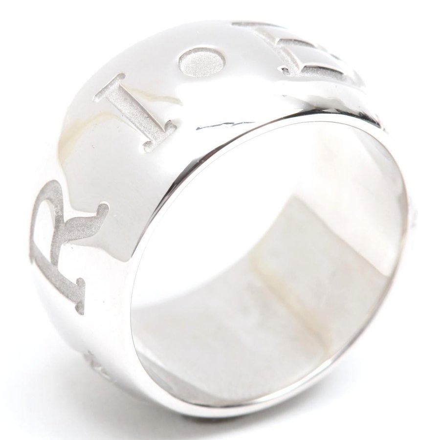 人気新品 ブルガリ モノロゴリング 指輪 K18WG(750) ホワイトゴールド ランクA #50/9.5号, アムマックス 00b4edf8