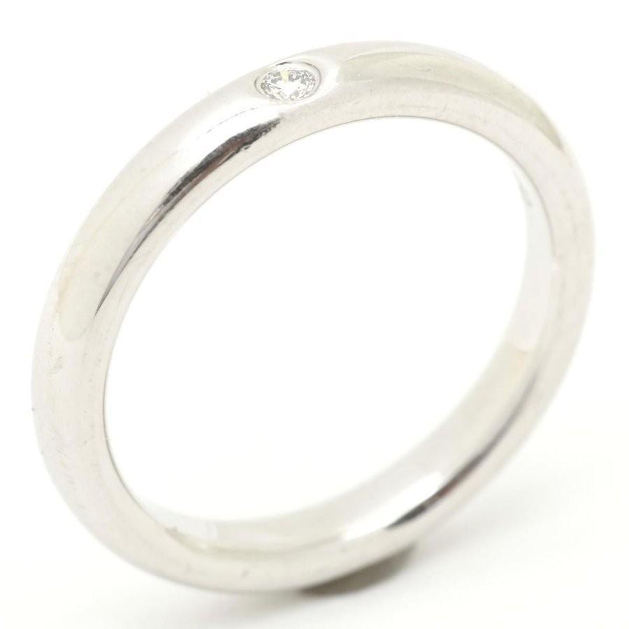 華麗 ティファニー 1Pダイヤモンド リング 指輪 PT950 プラチナ ダイヤモンド  8号, 白鷹町 d6f21a3a