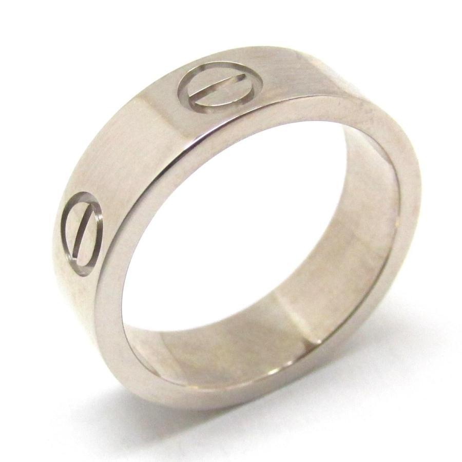 人気が高い カルティエ ラブリング 指輪 K18WG(750) ホワイトゴールド  #51 11号, スズカシ 983f487a