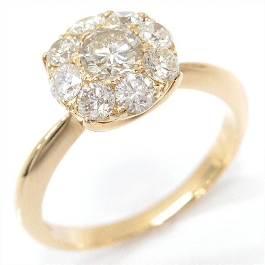 【即納!最大半額!】 ジュエリー ダイヤモンドリング 指輪 K18YG(750) イエローゴールドxダイヤモンド(0.76ct) ランクA 8号, ヒガシムラヤマグン d0b0b9d1