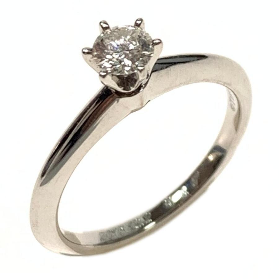 特別セーフ ティファニー ダイヤモンド リング 指輪 クリアー x シルバー PT950 プラチナ x ダイヤモンド0.23ct ランクA 8号, ショウズグン 73c8cbe2