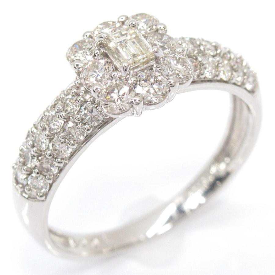 2019人気の ジュエリー ダイヤモンド リング 指輪 PT900 プラチナ x ダイヤモンド(1.00ct) ランクA 13号, やまとショップ 35252319
