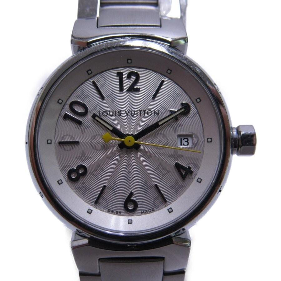 高質で安価 ルイヴィトン タンブール ホログラム SM 腕時計 SM レディース Q121K シルバー ステンレススチール(SS) ホログラム Q121K, タイヘイムラ:bd508b69 --- airmodconsu.dominiotemporario.com