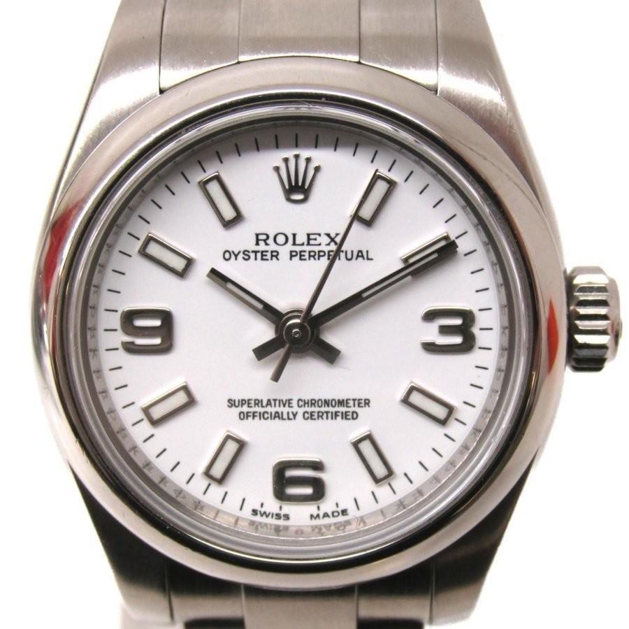 最高品質の ロレックス オイスター オイスター パーペチュアル レディース ウォッチ 腕時計 シルバー ウォッチ ランクA ステンレススチール 176200 ランクA, グリーンウィーク:72976dbe --- airmodconsu.dominiotemporario.com