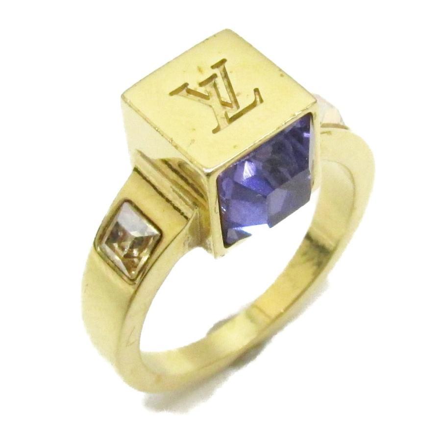 最安値 ルイヴィトン コリエ ギャンブル リング 指輪 パープル ゴールド GP ラインストーン M65099 7.5号, ベスバ 08b8a722