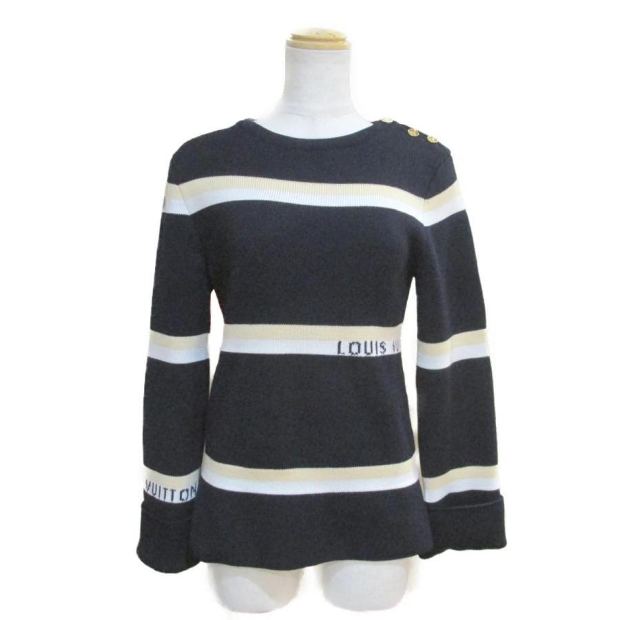 ファッションデザイナー ルイヴィトン セーター ネイビーxベージュxホワイト ウール ランクA, サイクルロード bacea025