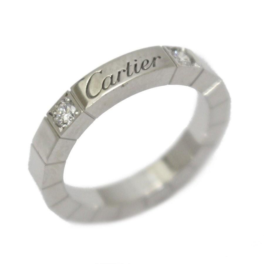 人気が高い  カルティエ ラニエール 2Pダイヤモンドリング 指輪 シルバー クリアー K18WG ホワイトゴールド B4075748, 資材印刷のルネ 1c7f9e9c