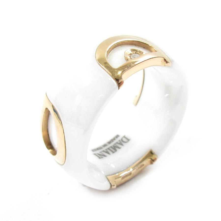 好評 ダミアーニ D.iconリング 指輪 ホワート X ピンクゴ−ルド K18PG(750) ピンクゴールド X セラミック X ダイヤモンド ランクA, 赤ちゃんの肌着 ほほえみ工房 40a9a037