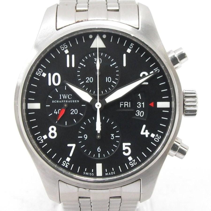 即日発送 インターナショナル・ウォッチ ブラック・カンパニー パイロットウォッチ クロノ ウォッチ 腕時計 ウォッチ 腕時計 ブラック ステンレススチール(SS) IW377704, e-キッチンマテリアル:9310072a --- airmodconsu.dominiotemporario.com