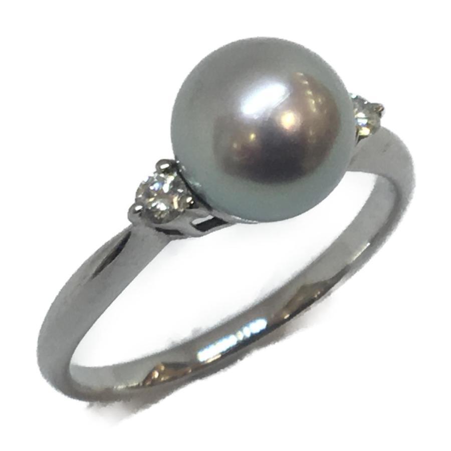 上等な ジュエリー ジュエリー パール ダイヤモンド リング 指輪 K18WG(750) ホワイトゴールド×パール(8mm)×ダイヤモンド(0.10ct), 高崎市 3b2653db
