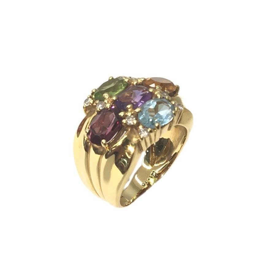 優先配送 ジュエリー K18マルチリング 指輪 ランクA ゴールド K18YG(750イエローゴールド)×マルチ(4.10Ct)×ダイヤモンド(0.15Ct) ジュエリー 指輪 ランクA, はあどる:f979bf74 --- airmodconsu.dominiotemporario.com