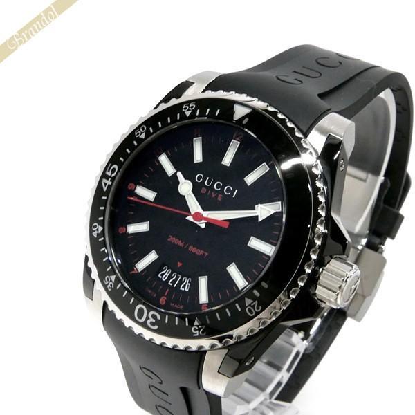 c45d33316b34 グッチ GUCCI メンズ腕時計 DIVE 40mm ブラック YA136303 [在庫品] :GU ...