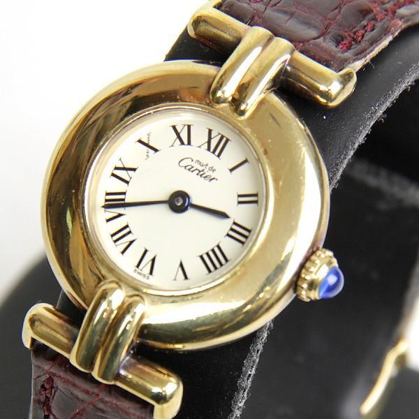 おすすめネット 『USED』カルティエ VERMEIL マストヴェルメイユ 590002 クォーツ 腕時計 シルバー925 ゴールドカラー レディース, てらすけ 2a0f1c5e