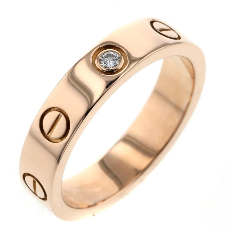 最新のデザイン カルティエ ミニラブ 1P ダイヤモンド リング 指輪 K18ピンクゴールド 10号 レディース CARTIER  K90823944, 東粟倉村 2ea9a961