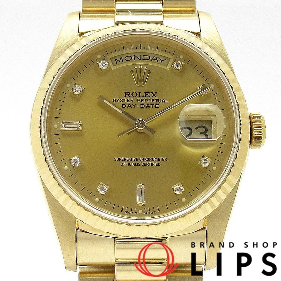 日本限定 ロレックス デイデイトオーバーホール済 メンズ時計 18238A(E) K18YG シャンパン文字盤 1988〜1989年製 美品, follows c0204804