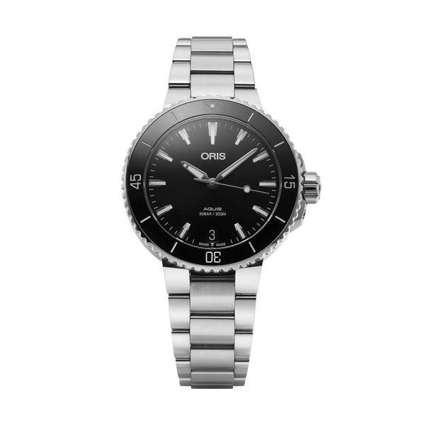 送料無料 ORIS オリス 733 7731 4154M アクイス デイト レディース 腕時計 Automatic Metal Watch 36mm, ミナミウオヌマグン c510f521
