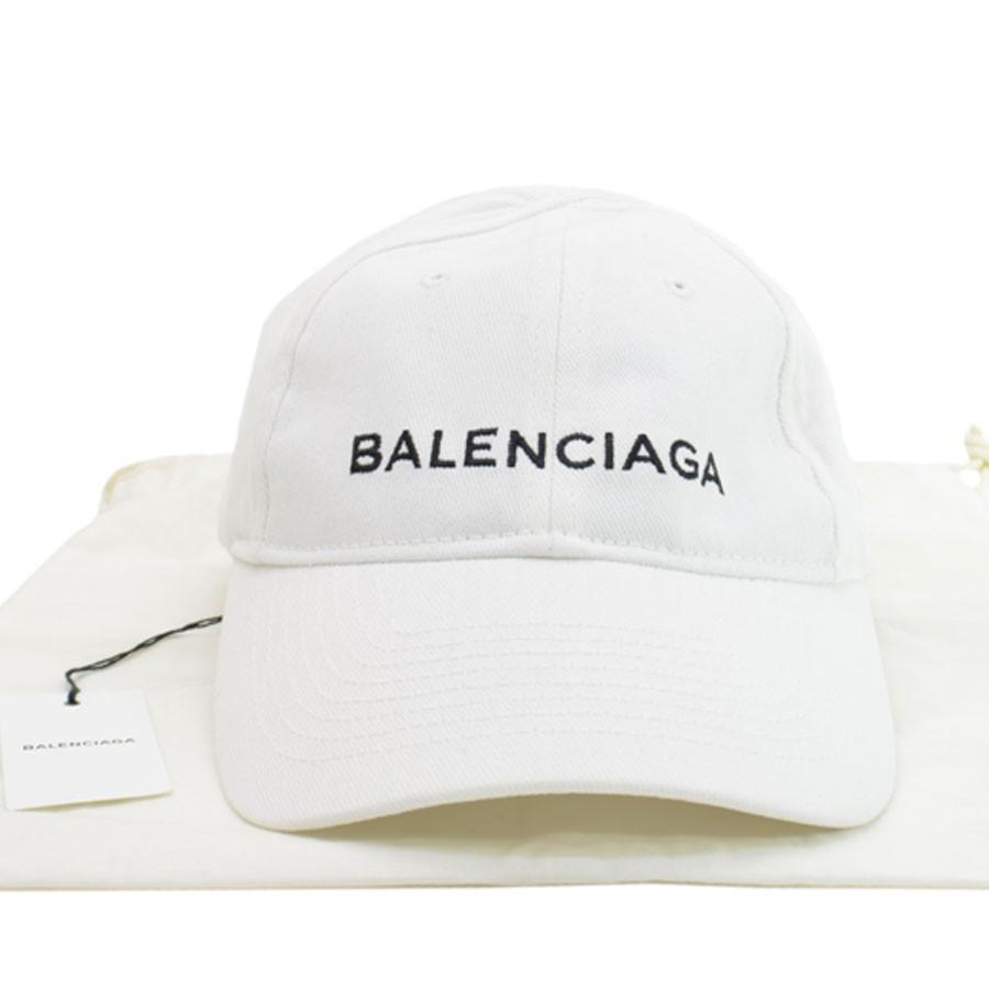 日本限定 バレンシアガ BALENCIAGA キャップ コットン ホワイトxブラック 新品同様, サロンドロワイヤル df0058d9