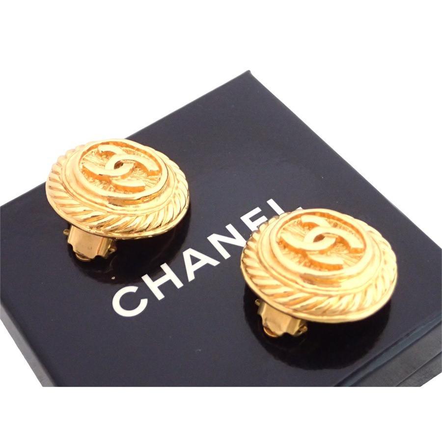 品質が完璧 シャネル CHANEL イヤリング ココマーク ヴィンテージ 金属素材 ゴールド 定番人気, 茨城県 4a7d95a3