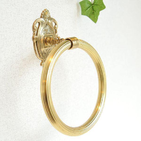 タオルハンガーRリング 真鍮製品金色 ブラス イタリア製アンティーク調雑貨|brass-alivio|02