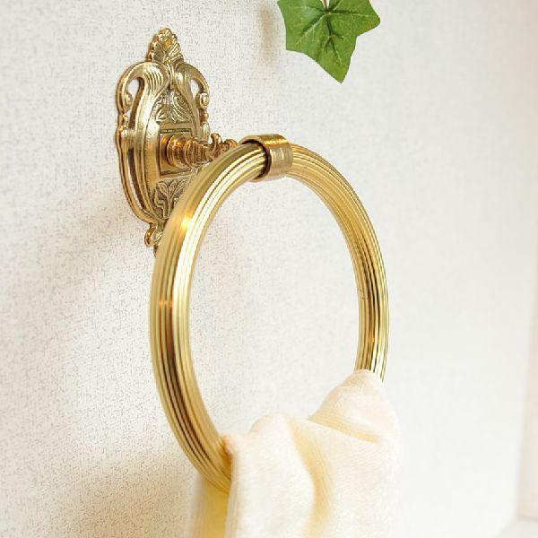 タオルハンガーRリング 真鍮製品金色 ブラス イタリア製アンティーク調雑貨|brass-alivio|04