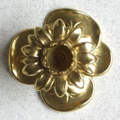 燭台1灯A 真鍮製品金色 ブラス イタリア製アンティーク調雑貨キャンドルスタンド brass-alivio 04