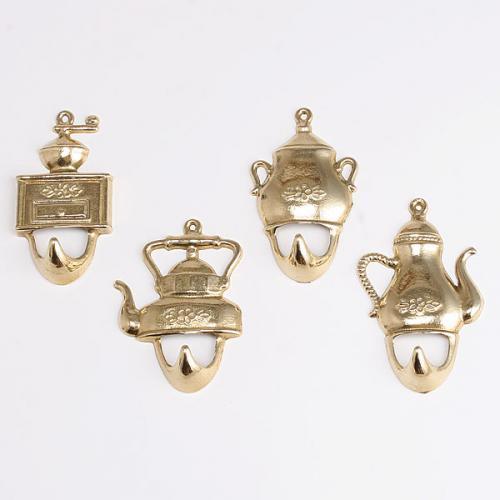 フック ケトル4個組  真鍮製品金色 ブラス イタリア製アンティーク調雑貨|brass-alivio