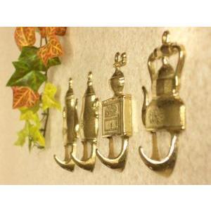 フック ケトル4個組  真鍮製品金色 ブラス イタリア製アンティーク調雑貨|brass-alivio|02